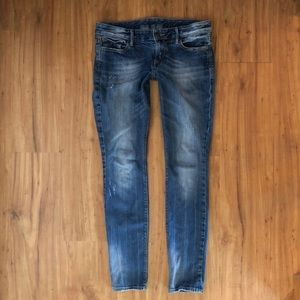 Express distressed skinny jeans - 10 Long